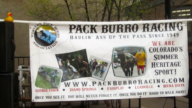 Welcome to pack burro racing.