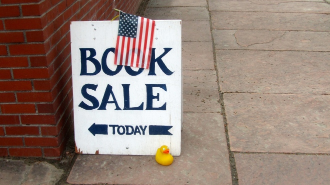 Book sale in Gorgetown