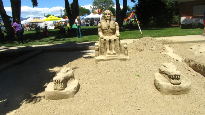 This is sculpted with sand and water
