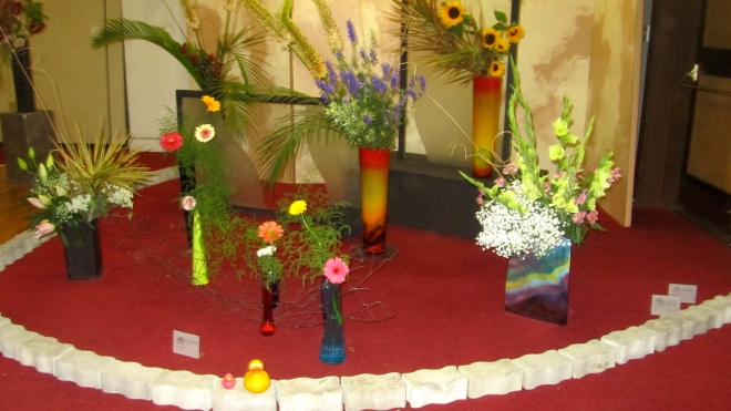 Several attractive flower arrangements