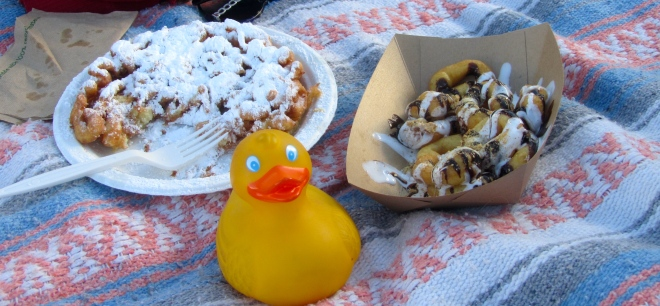 We love funnel cakes and mini donuts!