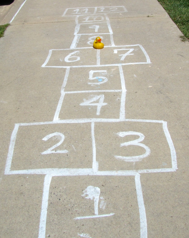 Zeb's first hopscotch
