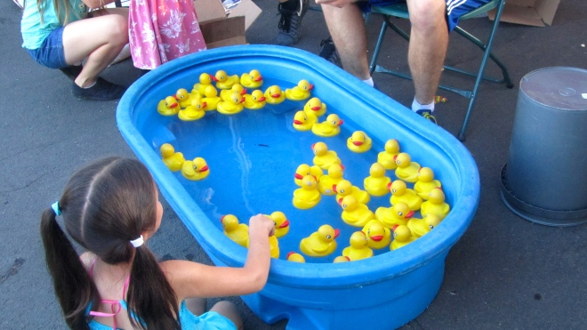 Pick a duck.  Win a prize.