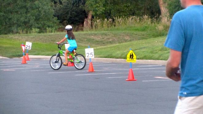 Practice biking skills