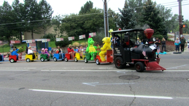 A train in the parade