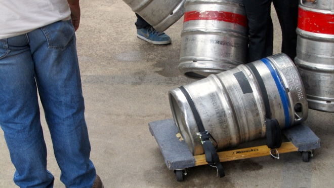 Keg on wheels.  Use as bowling ball