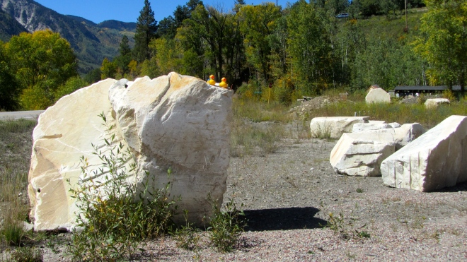 Large pieces of marble