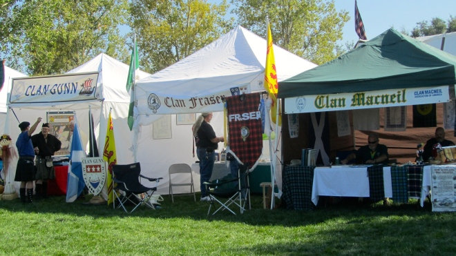 Many clans have their own booths