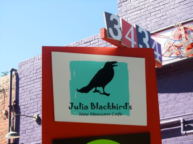 Julia Blackbird's New Mexican Cafe for lunch