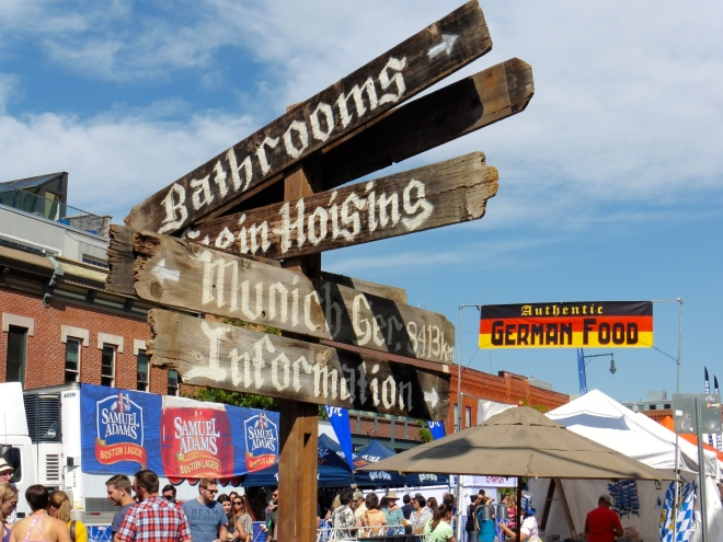New signs for Oktoberfest.