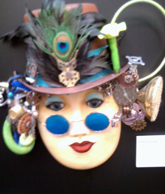 One of 4 masks donated by Pauline Savage