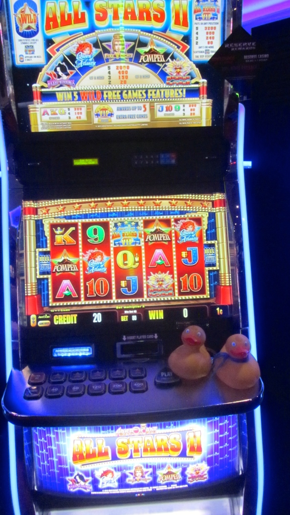 Slot machine at Reserve Casino