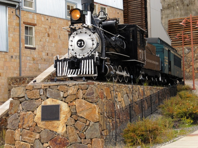 Train engine in Central City