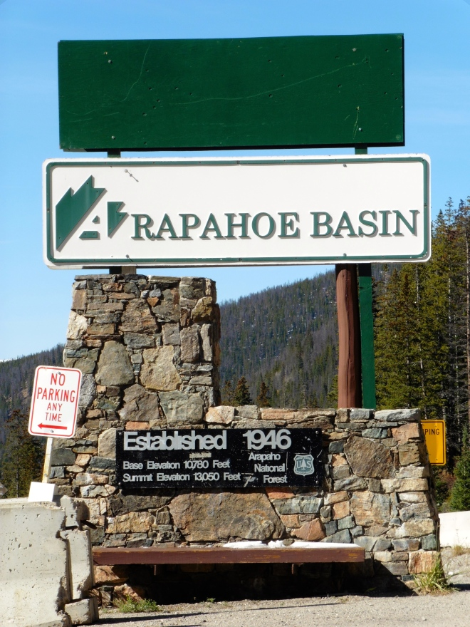 Back o Arapahoe Basin Ski resort