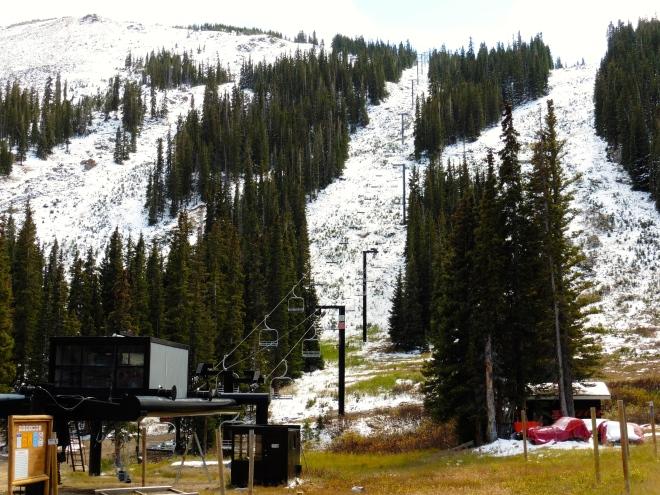 Getting ready to ski at Loveland Basin