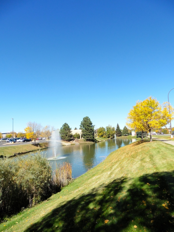 Pond and fountain near Indian Tree Golf Club