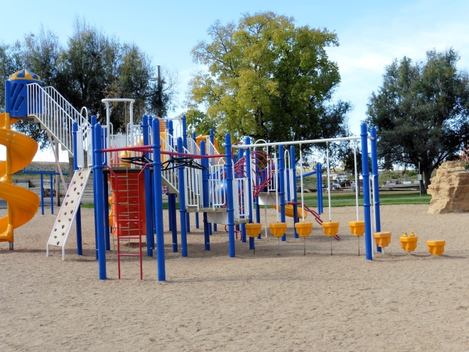 Great playground equipment for small humans