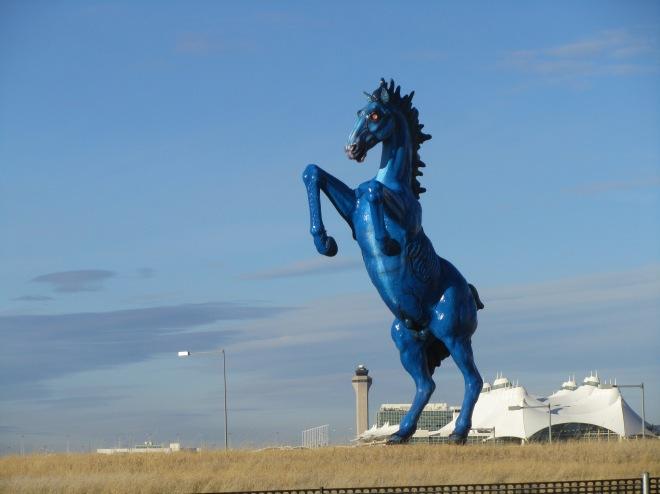 Big Blue Horse at Denver International Airport