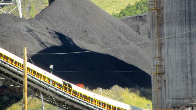 Pile of coal in Somerset, Colorado