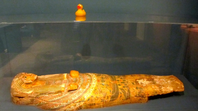 Well preserved coffin lid
