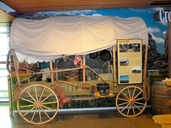 Traveling by covered wagon would be difficult.