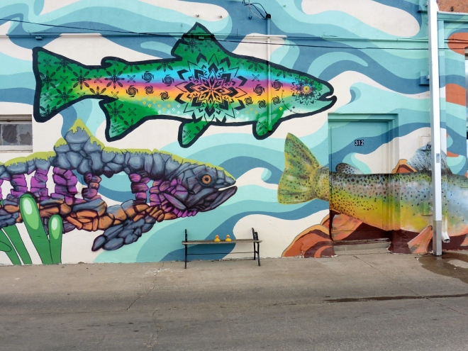 More bright fish.  From same wall