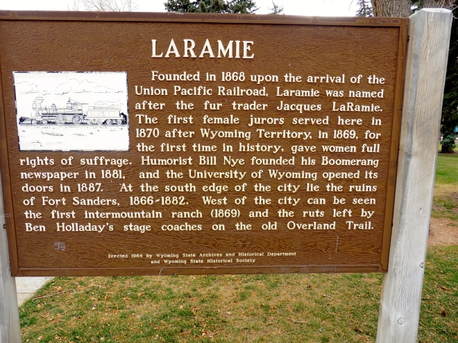 Laramie in the early days