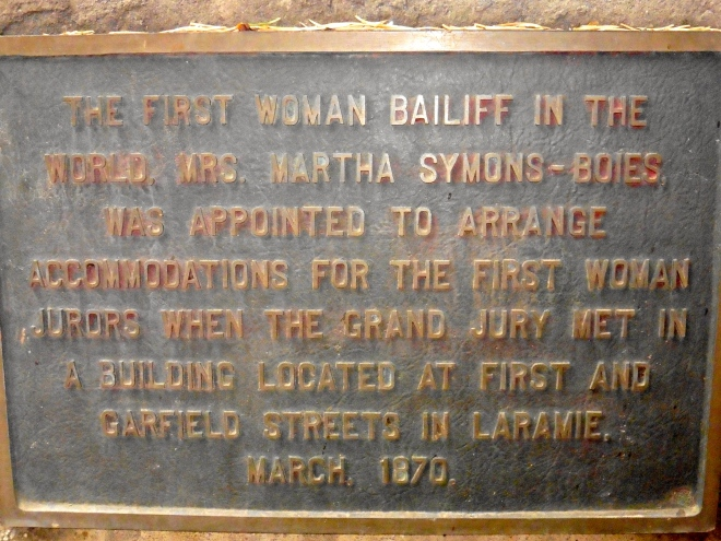 First woman bailiff