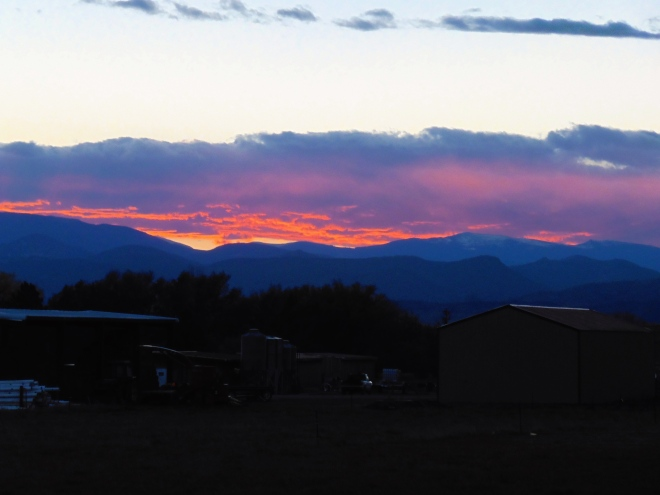 Colorado sunset in November, 2014