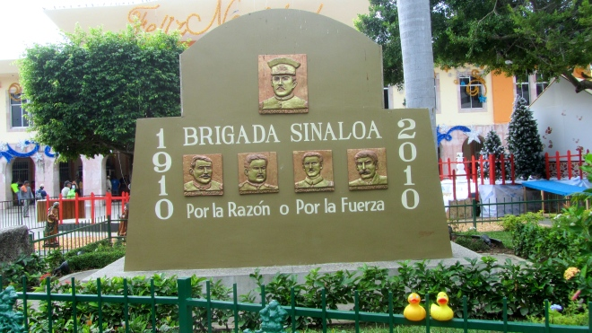 Brigada Sinaloa.  Celebrated 100 years.