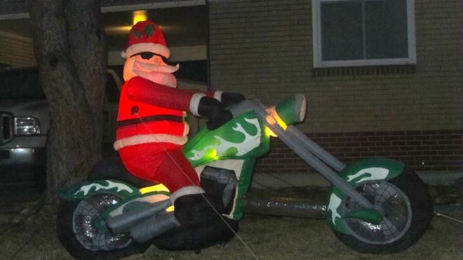Santa is biker
