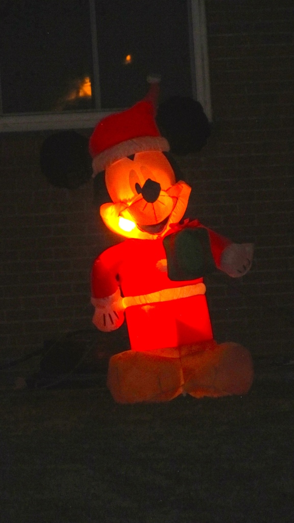Mickey Mouse loves Christmas also.
