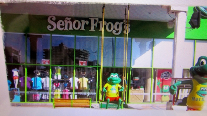 One of several Senor Frog stores in Mazatlan