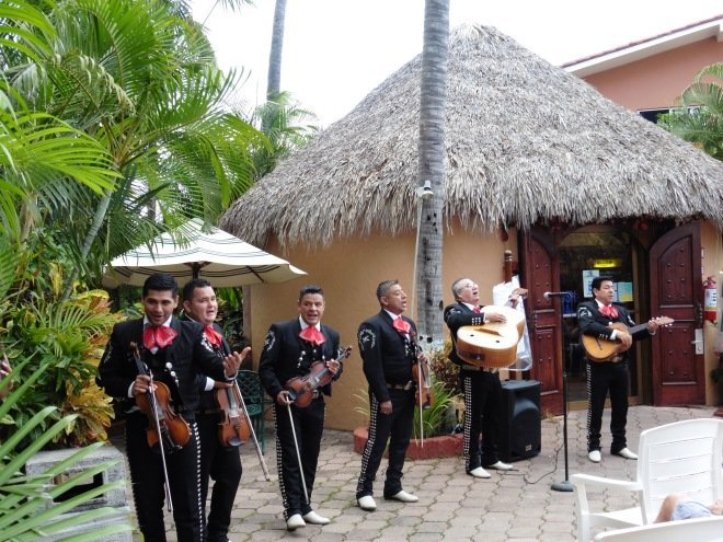 Mariachis to welcome us to Mazatlan