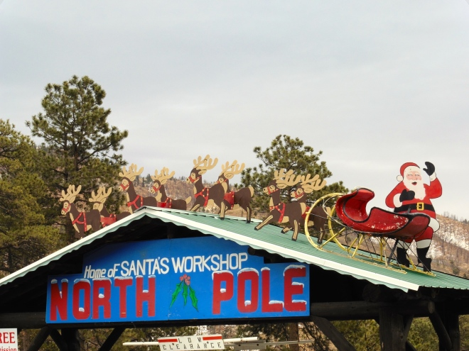 At the North Pole with Santa