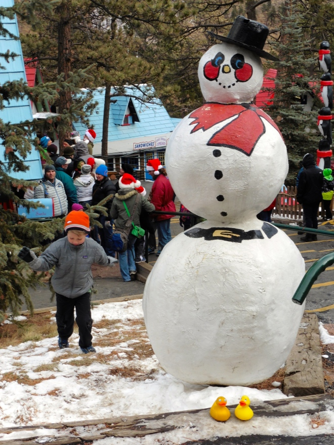 A big snowman decoration