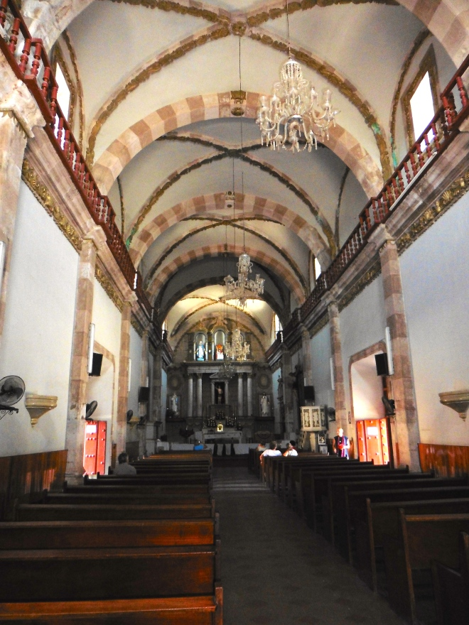 Inside San Sebastian church
