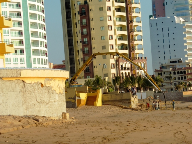 Working on beach front property
