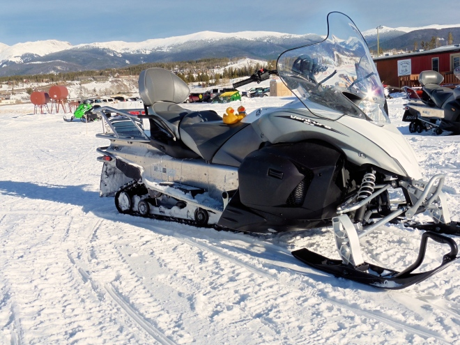 This is a big snowmobile.   Too big?