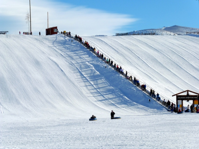 So easy.  Save energy for tubing downhill again.