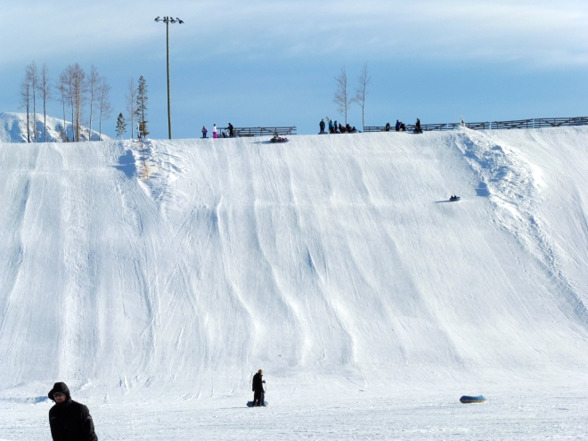 Bigger hill for human tubing