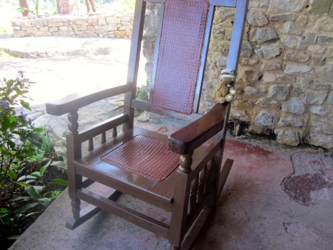 Las Terrazas is a perfect place to sit in the rocking chair.