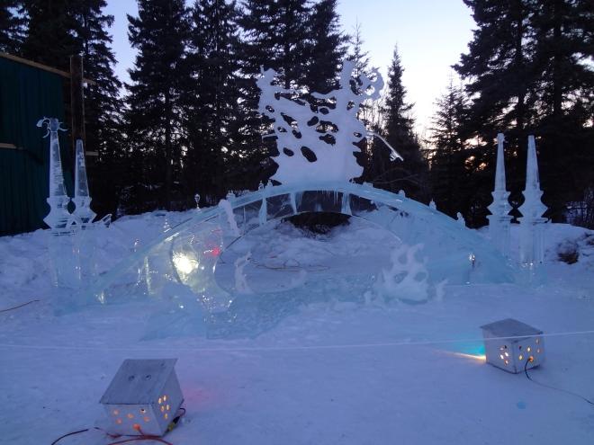 Even an ice bridge