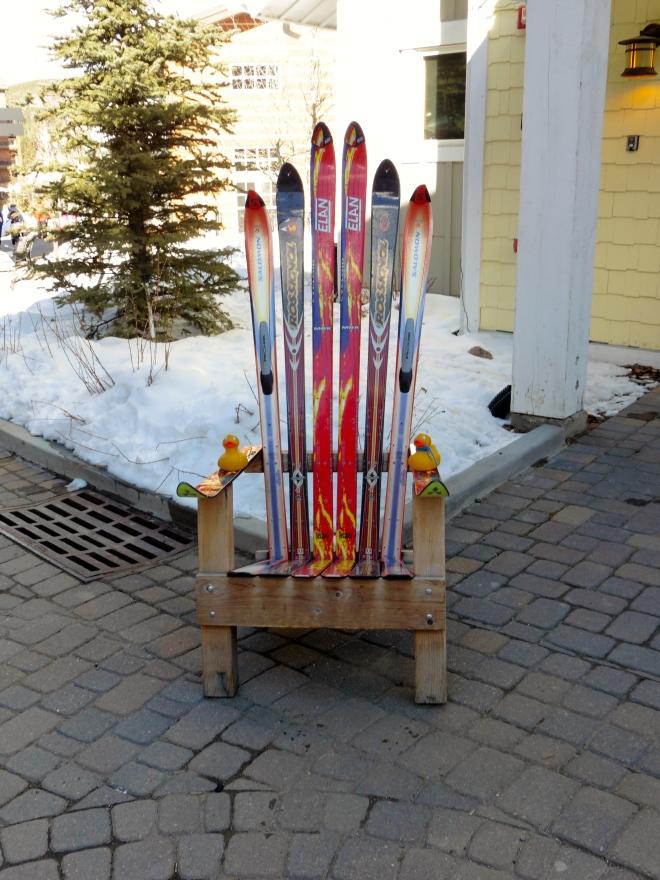 This chair announces the ski resort