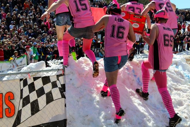 The pink socks