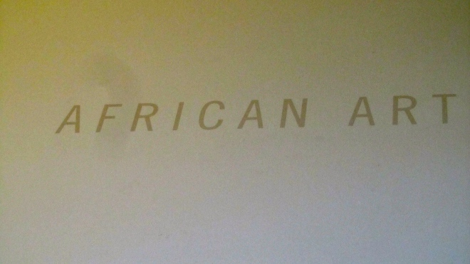 Welcome to the African Art Exhibit