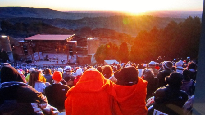 Easter Sunrise Service at Red Rocks Amphitheater in Morrison, Colorado