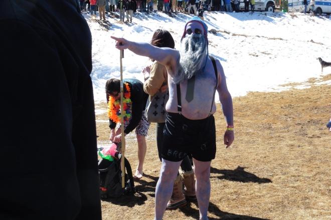 In costume for Frozen Dead Guy Days