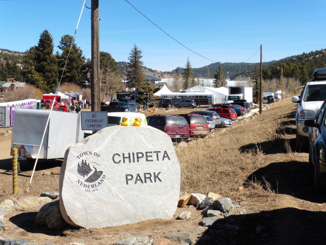 Welcome to Chipeta Park.   The Polar Plunge takes place in the pond behind the park