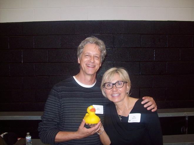 Brad and Pam are Wildcat Duck's new friends